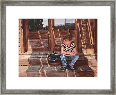 Cowgirl Framed Print by Leslie Redhead