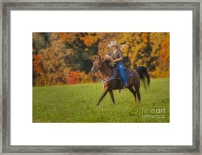 Cowgirl Framed Print by Susan Candelario
