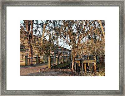 Cox Warehouse At Dusk Framed Print by Sandra Anderson