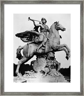 Coysevox: Fame And Pegasus Framed Print by Granger