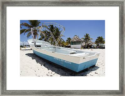 Framed Print featuring the photograph Cozumel Mexico Fishing Boat by Shawn O'Brien