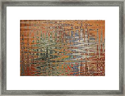 Cozy Colors Abstract Framed Print by Carol Groenen