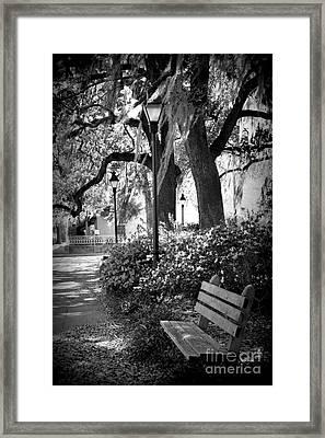 Cozy Corner In Savannah Framed Print by Carol Groenen