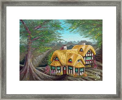 Cozy Cottage From Arboregal Framed Print