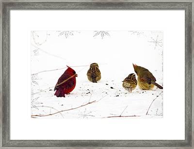 Cozy Family Framed Print