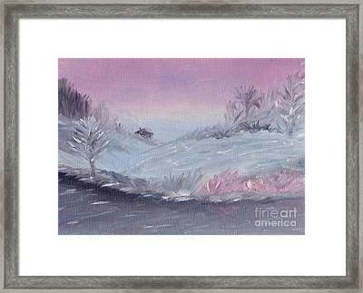 Cozy Winter Twilight Framed Print