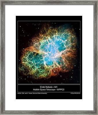 Crab Nebula - Hubble Sapce Telescope Framed Print by ilendra Vyas
