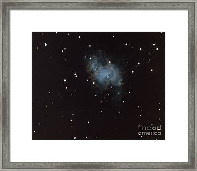 Crab Nebula In Taurus Framed Print by Science Source