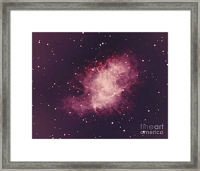 Crab Nebula Framed Print by Science Source