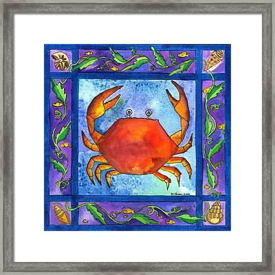 Crab Framed Print by Pamela  Corwin