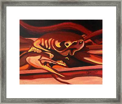 Crab Triptych 2 Framed Print by Graham Matthews
