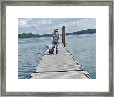 Framed Print featuring the photograph Crabber Man by Patricia Greer