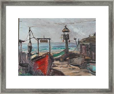 Crabby's Shack Framed Print
