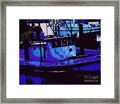 Framed Print featuring the digital art Crabs For Sale by Glenna McRae