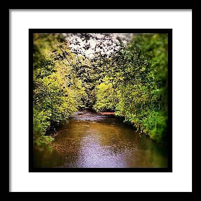 Fish Creek Framed Prints