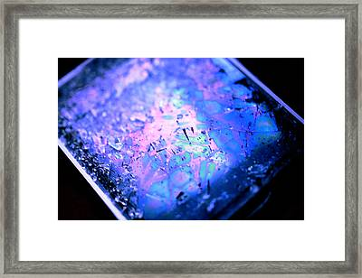 Cracked Cellphone Framed Print by Will Czarnik