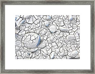 Framed Print featuring the photograph Cracked Earth by Nareeta Martin