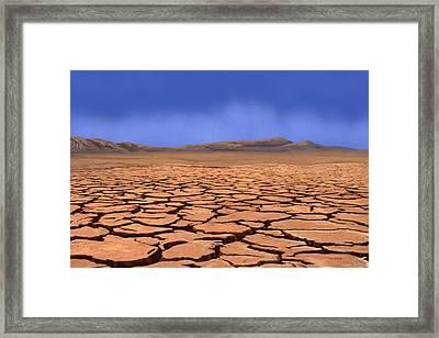 Cracked Earth Framed Print by Tim Stringer