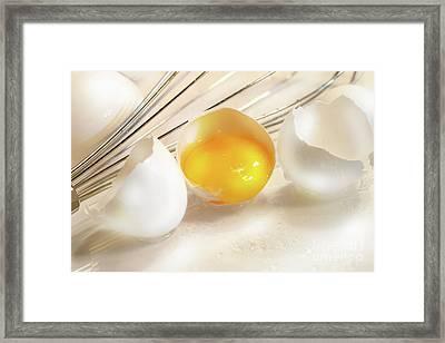 Cracked Egg With Yolk Framed Print