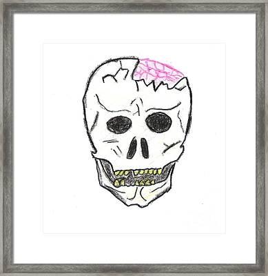 Cracked Skull Framed Print by Jeannie Atwater Jordan Allen