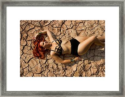 Cracked Up Framed Print by Marlo Horne