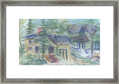 Framed Print featuring the pastel Crackhouse Revisited by Denny Morreale