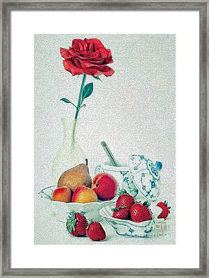 Framed Print featuring the photograph Crackled Rose by Elf Evans