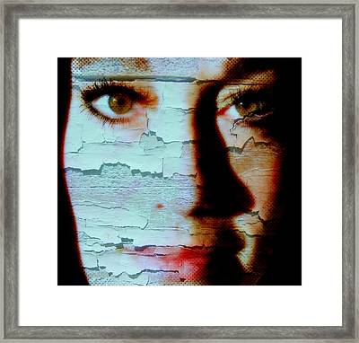 Crackled View Framed Print