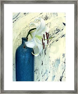 Cracklin Lily Framed Print by Marsha Heiken