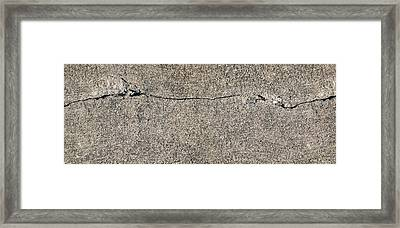 Cracks 1 Framed Print by The Art of Marsha Charlebois