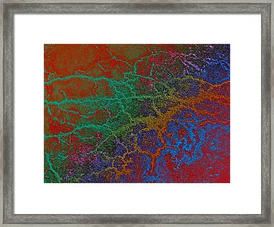 Cracks Framed Print