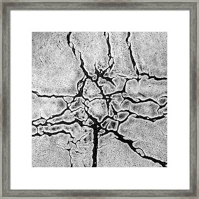 Cracks Framed Print by Gerard Hermand