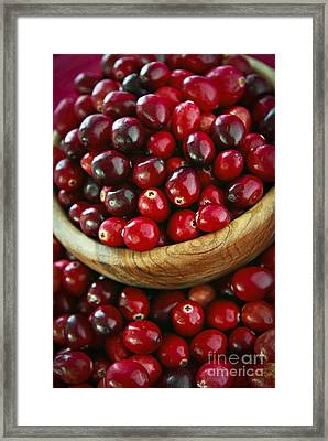 Cranberries In A Bowl Framed Print