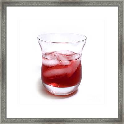 Cranberry Juice Framed Print by Blink Images