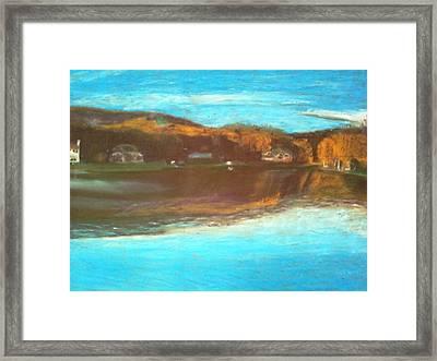 Crandon Lakes In November Framed Print by Samuel McMullen