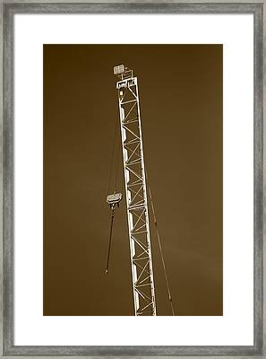 Crane Framed Print by Bogdan Constantin Petrovici