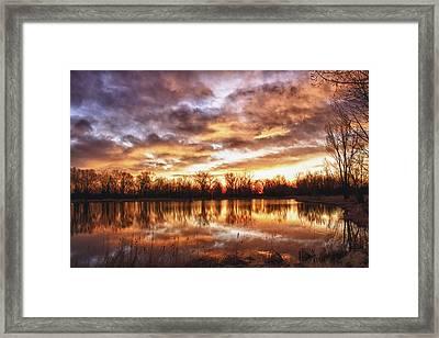 Crane Hollow Sunrise Boulder County Colorado Hdr Framed Print by James BO  Insogna