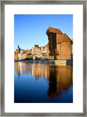 Crane In The Old Town Of Gdansk Framed Print