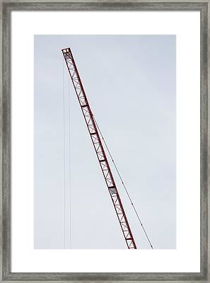 Crane Red Arm Framed Print by Bogdan Constantin Petrovici