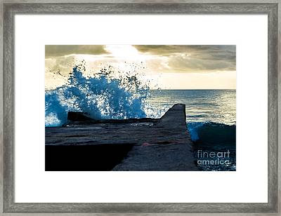 Crashing Blue Framed Print by Rene Triay Photography
