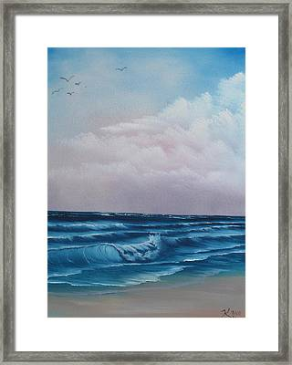 Crashing Wave Framed Print by Kevin Hill