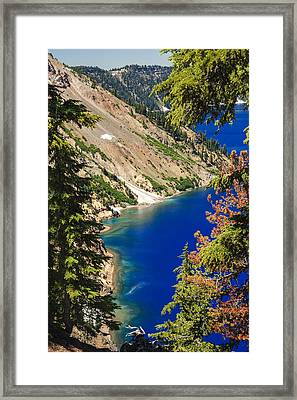 Crater Lake I Framed Print by Daniel Cummins