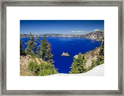 Crater Lake II Framed Print by Daniel Cummins
