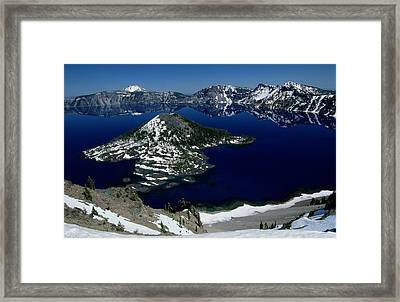 Crater Lake National Park, Oregon Framed Print by Raymond Gehman