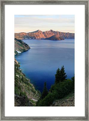 Crater Lake Sunrise Framed Print by Pierre Leclerc Photography