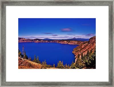 Crater Lake View Framed Print by Daniel Morgan