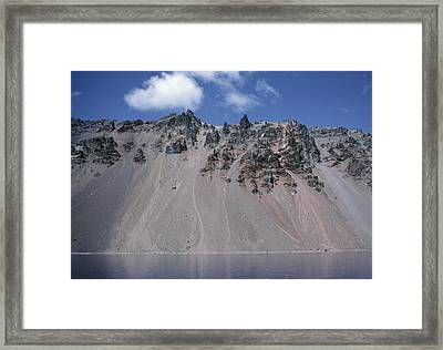 Crater Lake Volcanic Wall, Usa Framed Print by Dr Juerg Alean