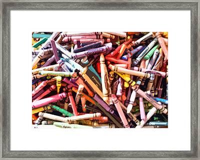 Crayola Framed Print by Bernadette Kazmarski