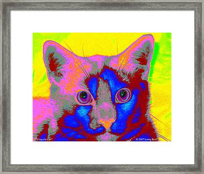 Crayola Cat Framed Print