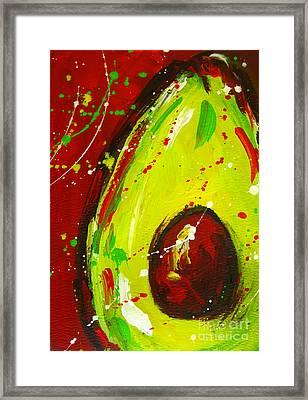 Crazy Avocado 3 - Modern Art Framed Print by Patricia Awapara